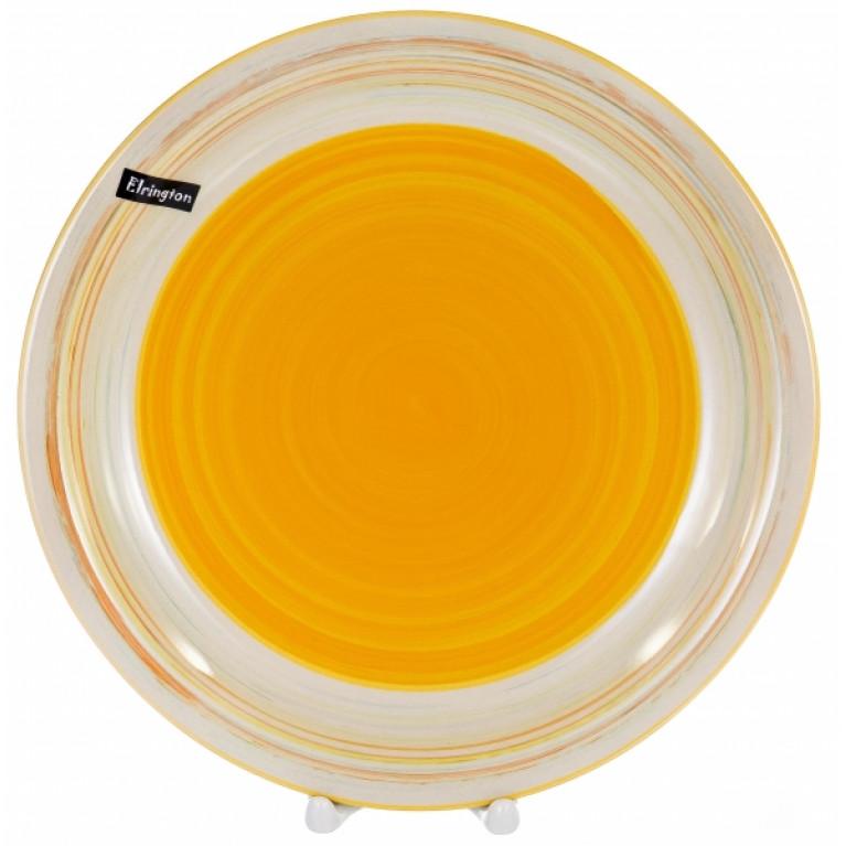 Тарелка мелкая 270мм аэрография с белым бортом