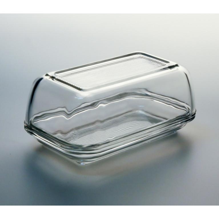 Масленка 17см с крышкой прозрачная