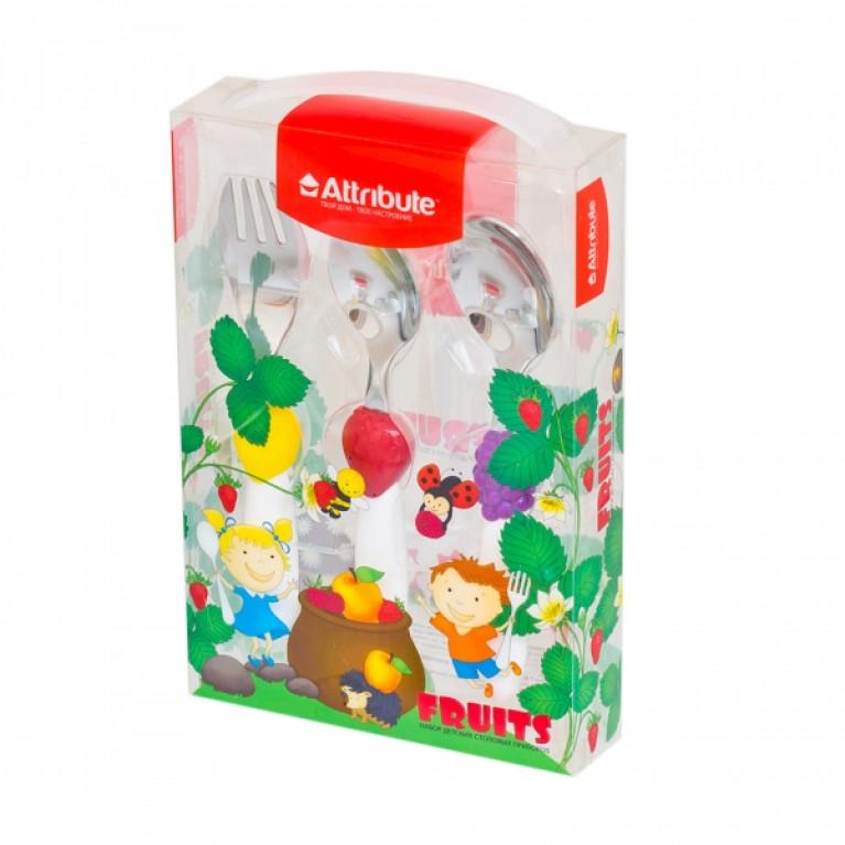 Набор детских столовых приборов FRUITS 3 предмета