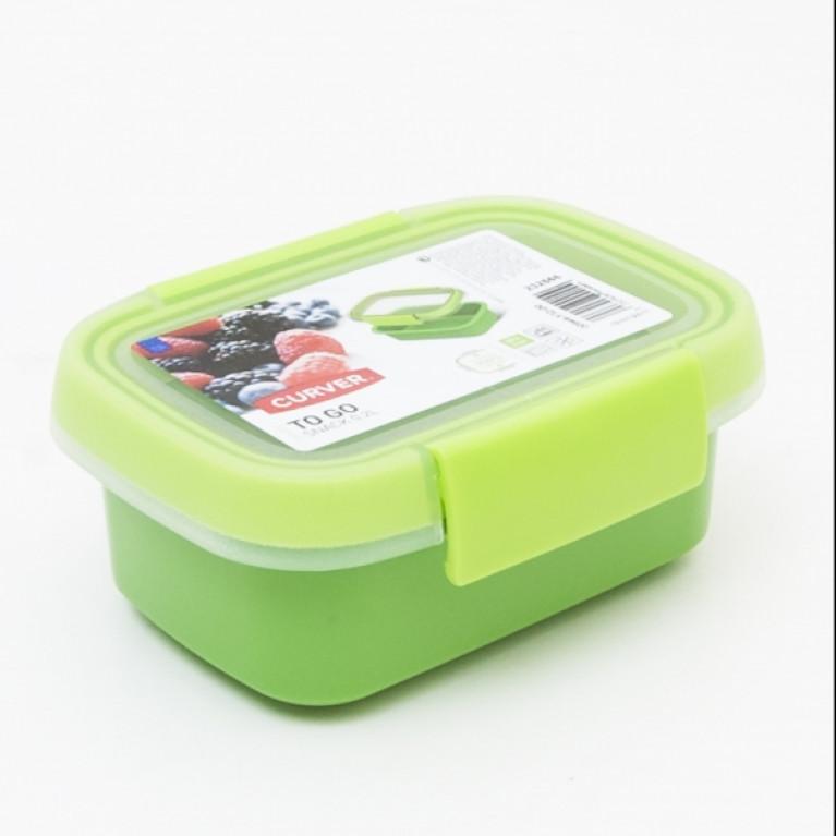 Контейнер пищевой прямоугольный TO GO 0.2л зеленый