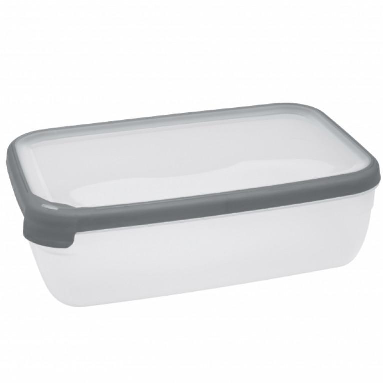 Емкость для морозилки и СВЧ GRAND CHEF 2.6л прямоугольная (серая крышка)