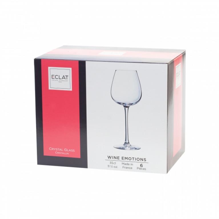 Набор фужеров (бокалов) для красного вина ВАЙН ЭМОУШЕН 350мл 6шт