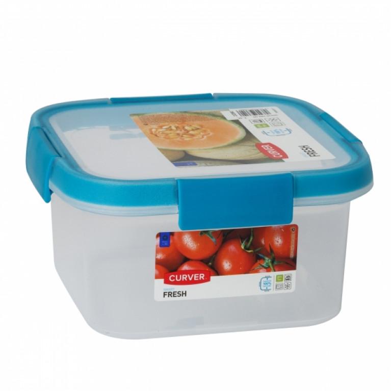 Контейнер пищевой квадратный FRESH 1.1л голубой