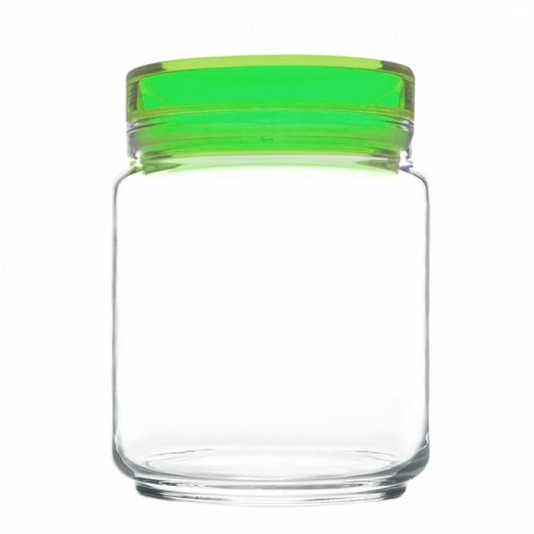 Банка для продуктов КОЛОРЛИШЭС с зеленой крышкой 0,75 л