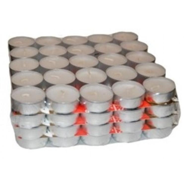 Свечи чайные в гильзе без запаха 100шт 15мм (2-4 часа)