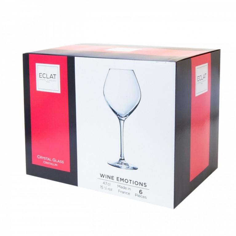 Набор фужеров (бокалов) для белого вина ВАЙН ЭМОУШЕНС 470мл 6шт