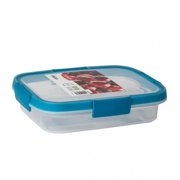Контейнер пищевой прямоугольный FRESH 0.7л голубой