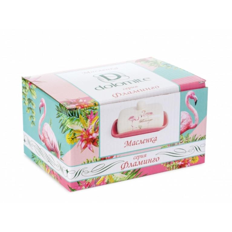 Масленка Фламинго 17x12,5x8,5см.