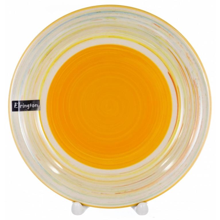 Тарелка мелкая 190мм аэрография с белым бортом