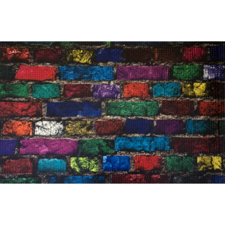 Коврик придверный грязезащитный Цветной кирпич 40x60см