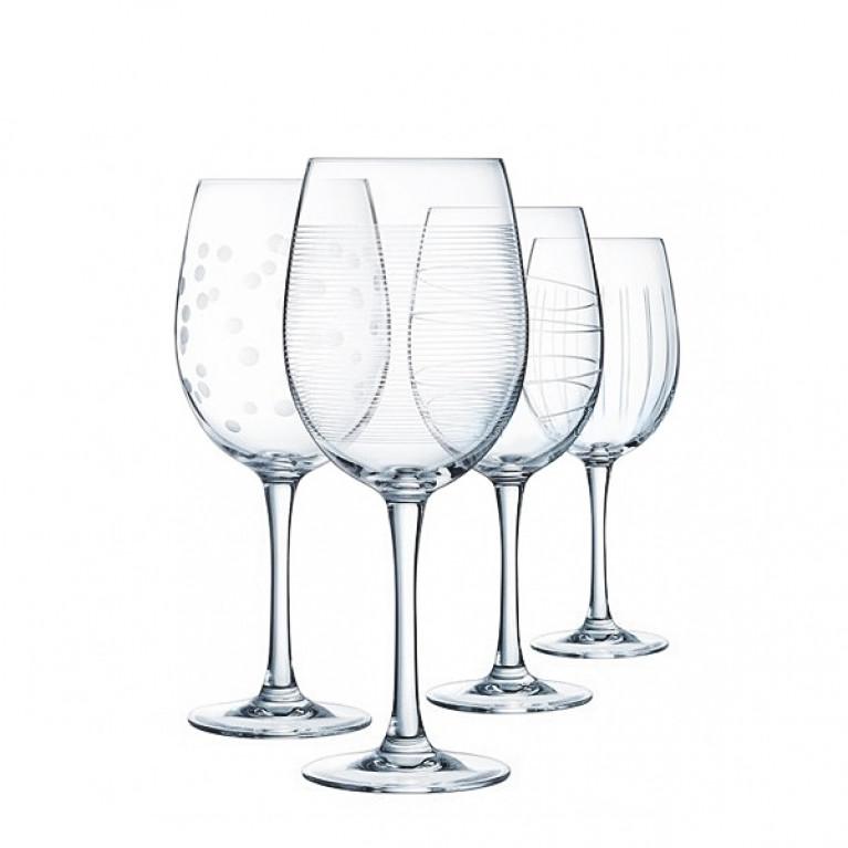 Набор фужеров (бокалов) для вина ИЛЛЮМИНЕЙШН ТЮЛИП 470мл 4шт