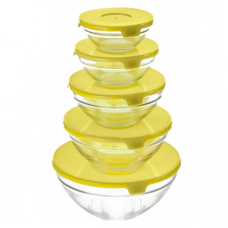 Набор салатников желтая крышка (GB1401)