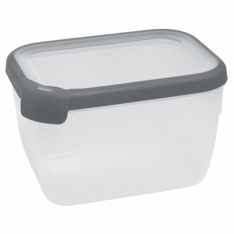 Емкость для морозилки и СВЧ GRAND CHEF 2.4л прямоугольная (серая крышка)