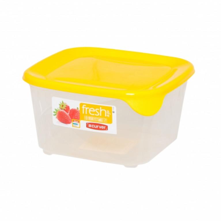 Контейнер для СВЧ FRESH&GO 1.2л желтый квадратный