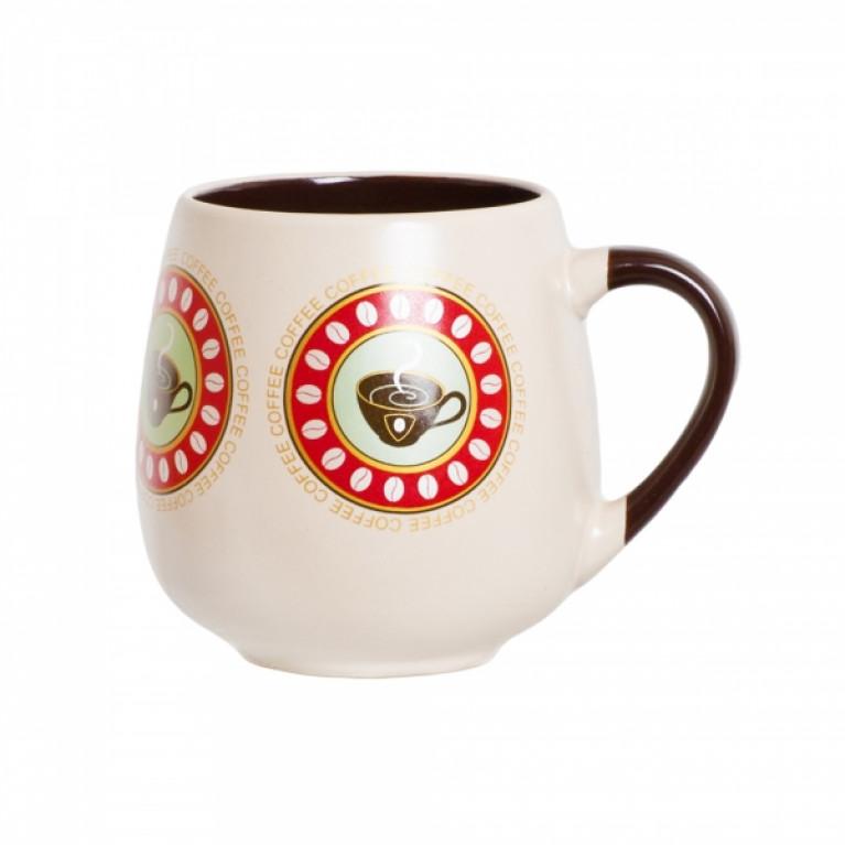 Кружка керамическая бочонок кофе 500мл