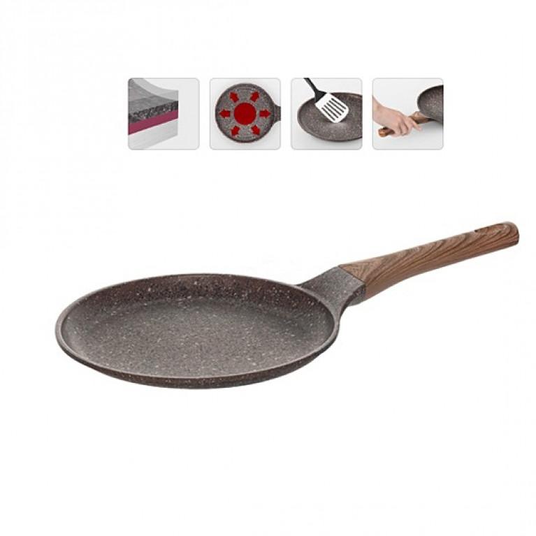 Сковорода блинная с антипригарным покрытием 24см NADOBA серия GRETA