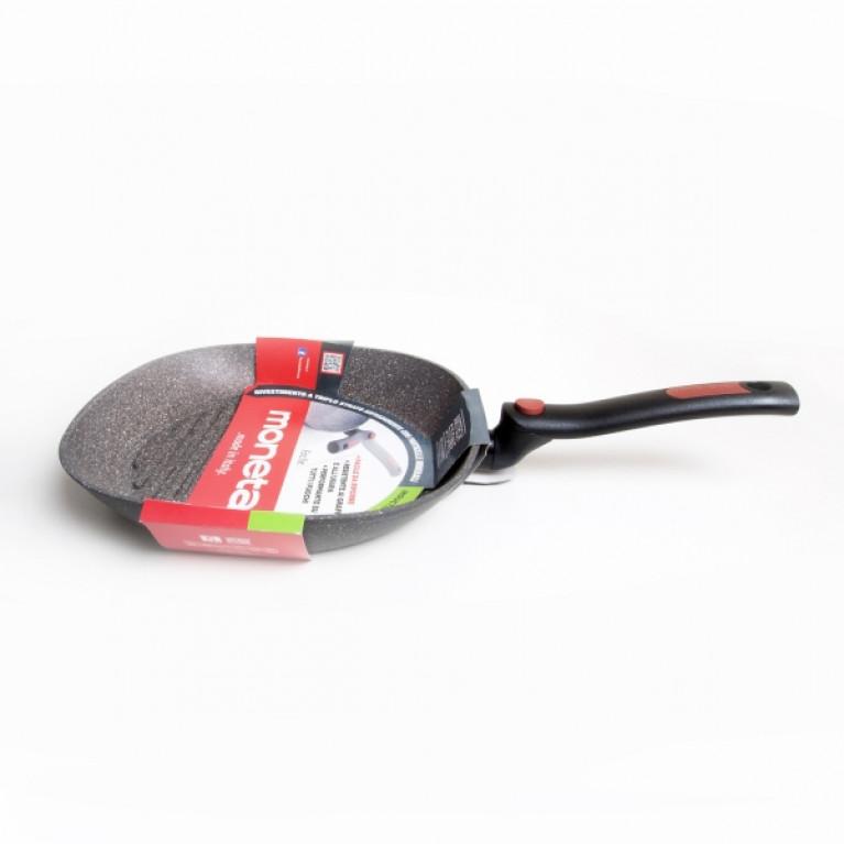 Сковорода-гриль со складной ручкой FACILE 28х28см индукция