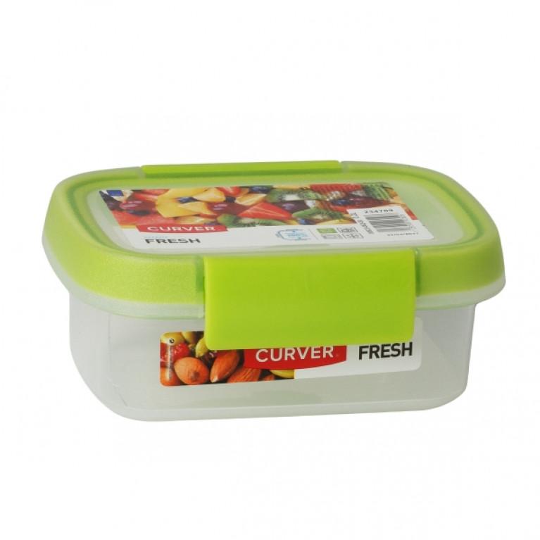 Контейнер пищевой прямоугольный FRESH 0.2л зеленый