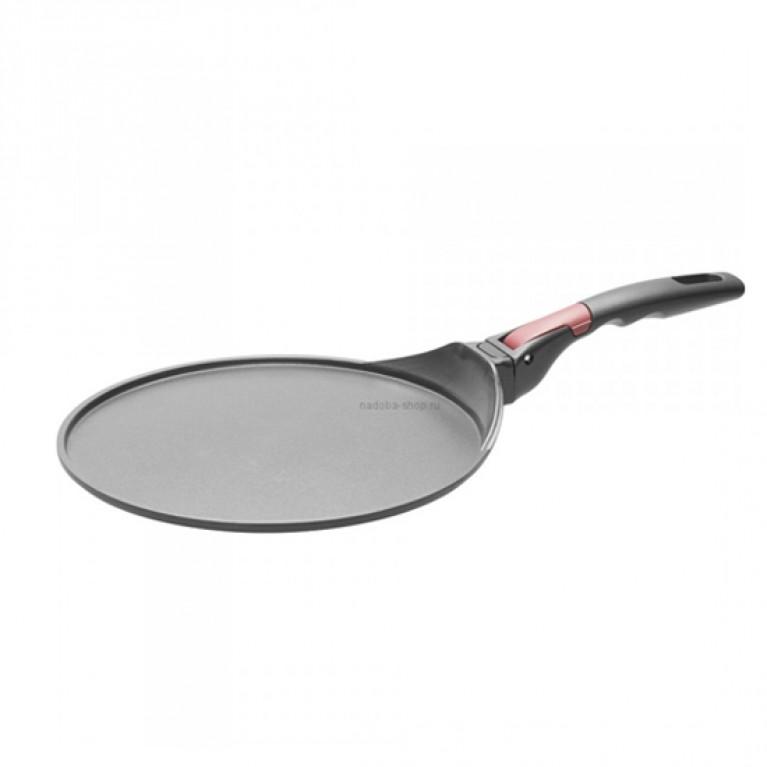Сковорода блинная с антипригарным покрытием и съЕмной ручкой 26см NADOBA серия VILMA