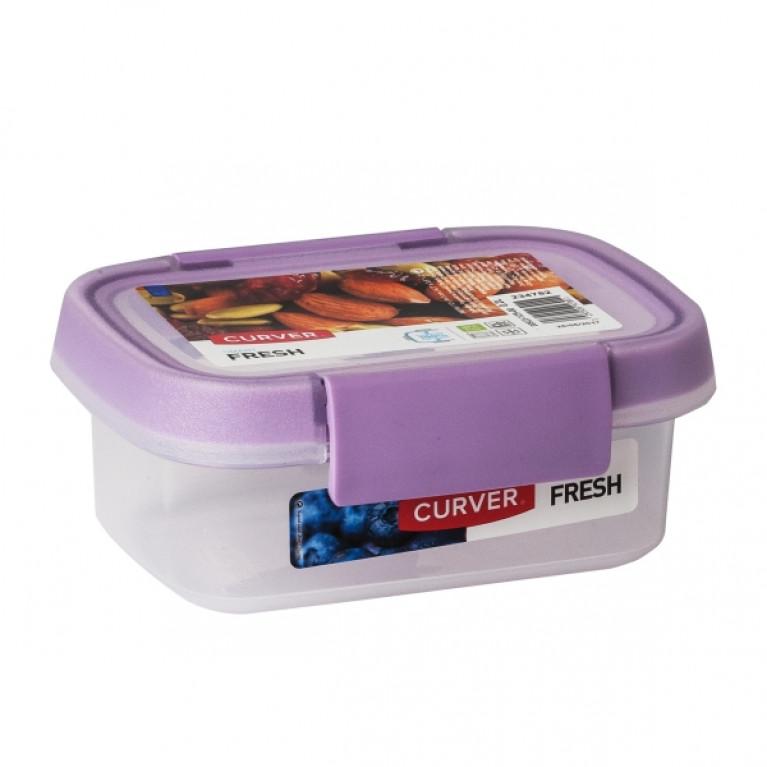 Контейнер пищевой прямоугольный FRESH 0.2л сиреневый