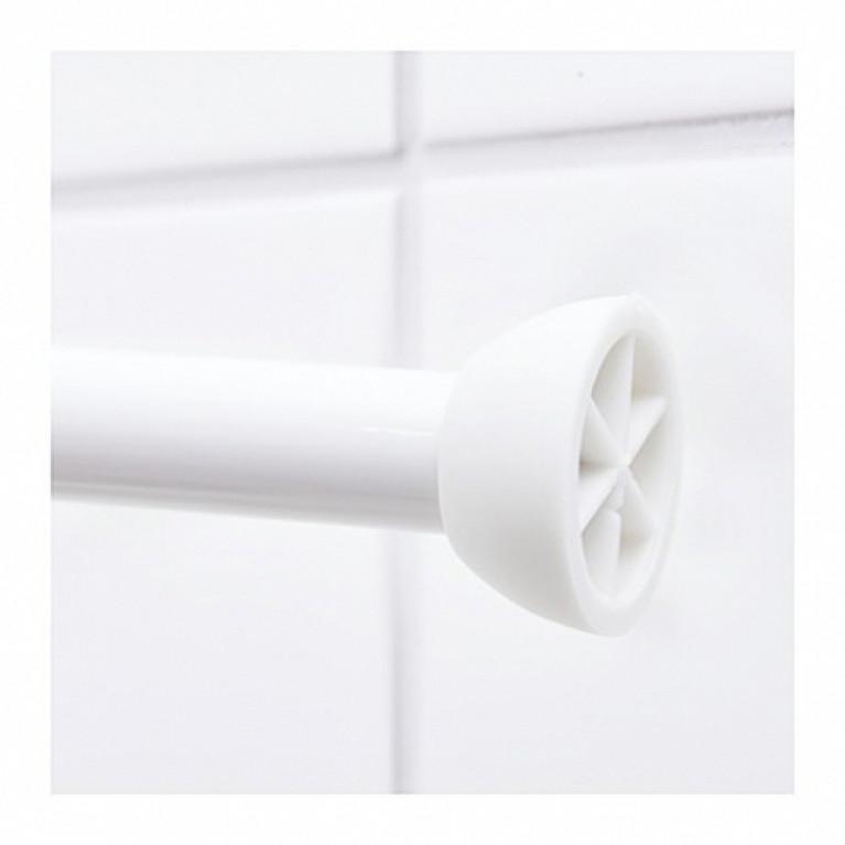 Штанга для шторы в ванную телескопическая 110х185см white