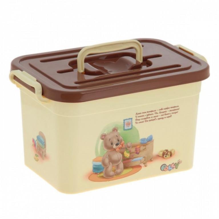 Контейнер для хранения детских вещей POLLY 6.5л