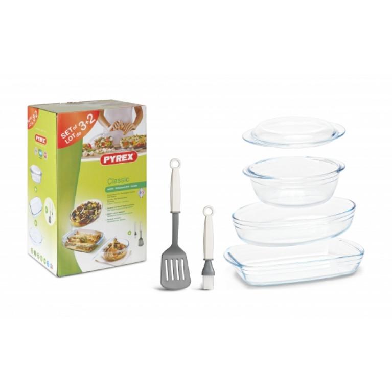 Набор посуды Pyrex 3+2 предмета