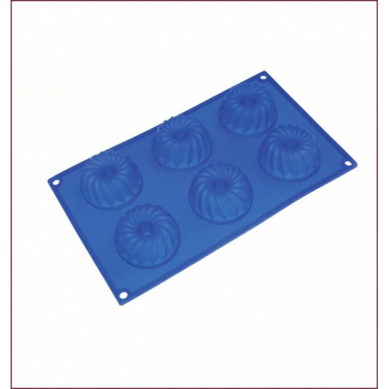 Форма из силикона МИНИ КЕКС MARMITON с отверстием 6 ячеек