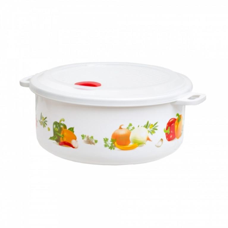 Емкость для холодильника и микроволновой печи с декором 30л