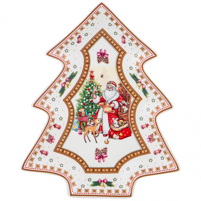 """Блюдо """"Christmas Collection"""" 26*21 см, высота 3,5 см"""