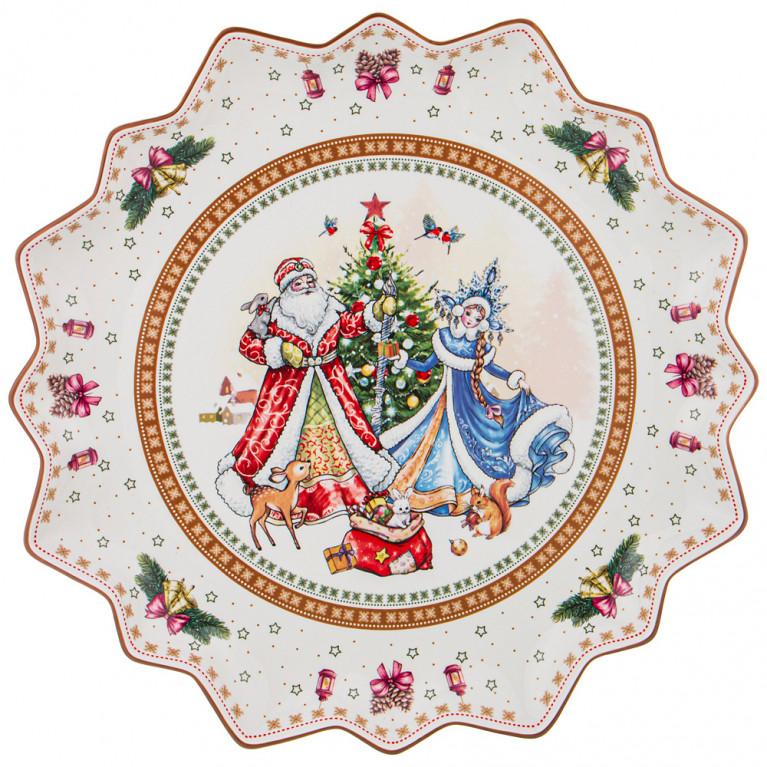 """Блюдо """"Christmas Collection"""" Диаметр 38 см, высота 4 см"""