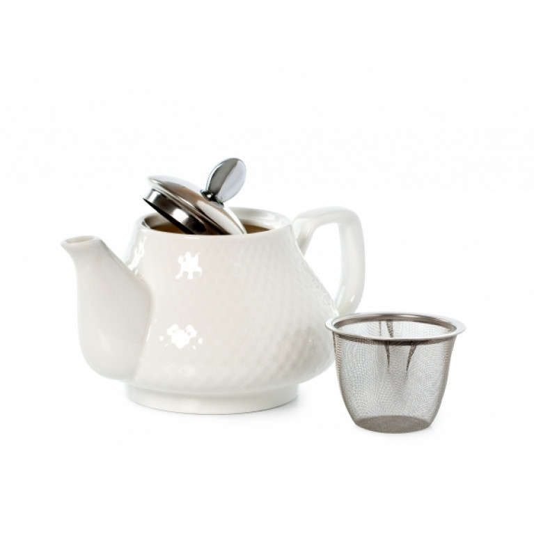 Заварочный чайник КРАСНЫЙ/БЕЛЫЙ 750мл LR (х24)