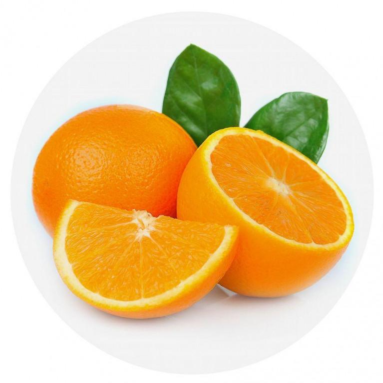 Доска разделочная - подставка под горячее, круглая D20см Апельсин NEW