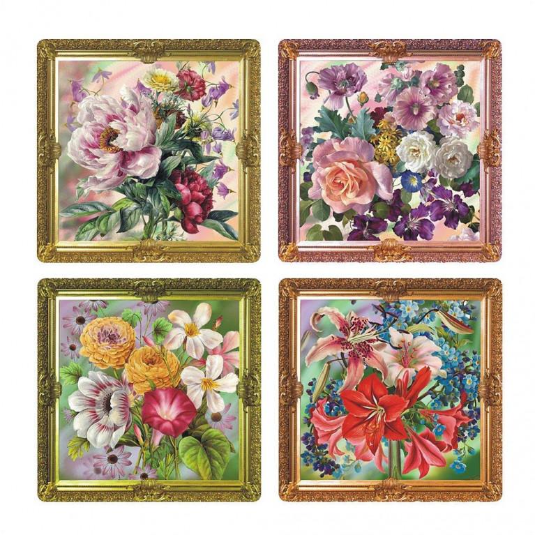 Салфетка Купеческие цветы 31х31см