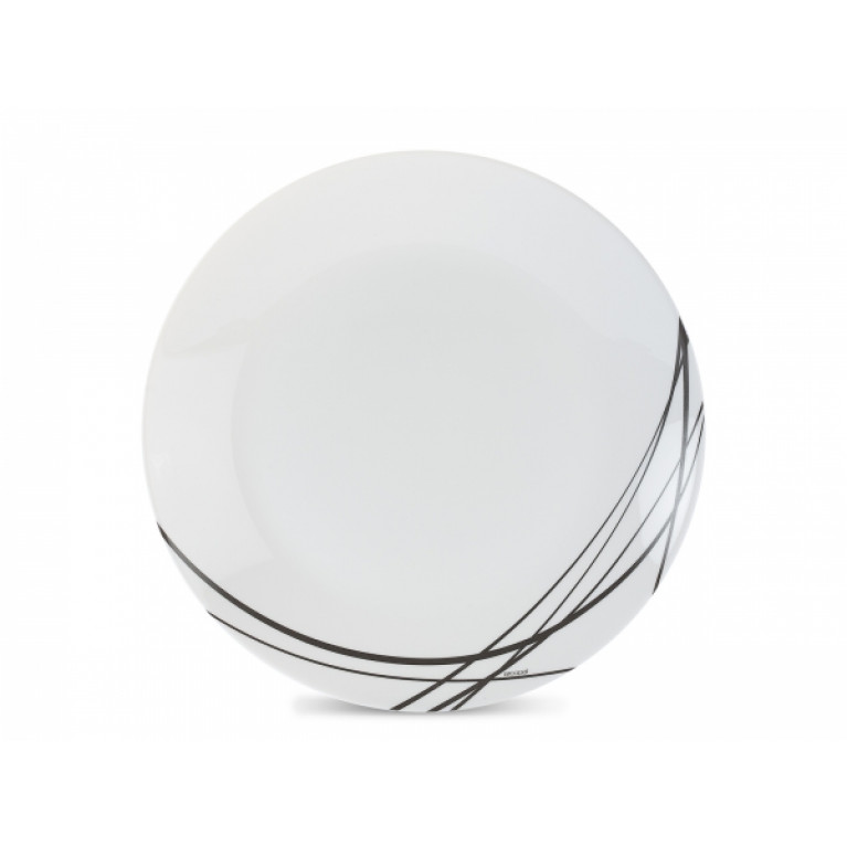 Тарелка обеденная ДОМИТИЛЬ БЛЭК 25см