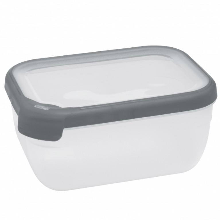 Емкость для морозилки и СВЧ GRAND CHEF 4.0л прямоугольная (серая крышка)