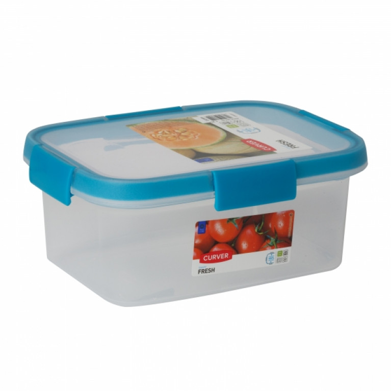 Контейнер пищевой прямоугольный FRESH 1.2л голубой