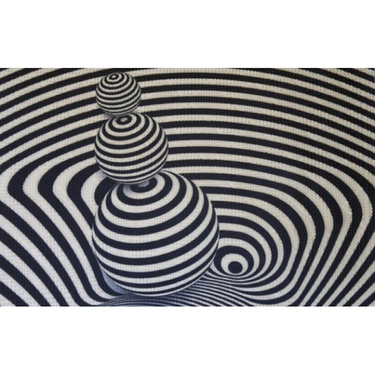 Коврик придверный грязезащитный Фотопринт шары 40x60см
