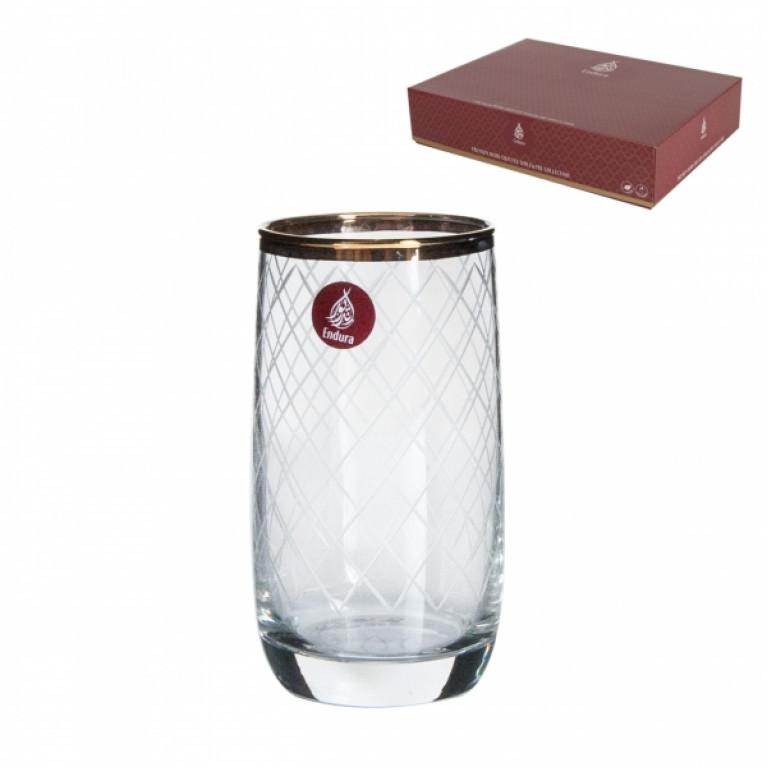 Набор стаканов GOLD NET ENDURA PREMIUM 6шт 330мл высокие