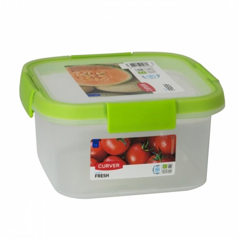 Контейнер пищевой квадратный FRESH 1.1л зеленый