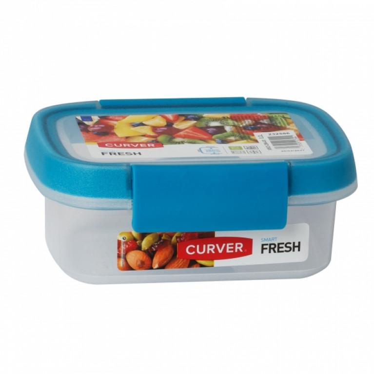 Контейнер пищевой прямоугольный FRESH 0.2л голубой