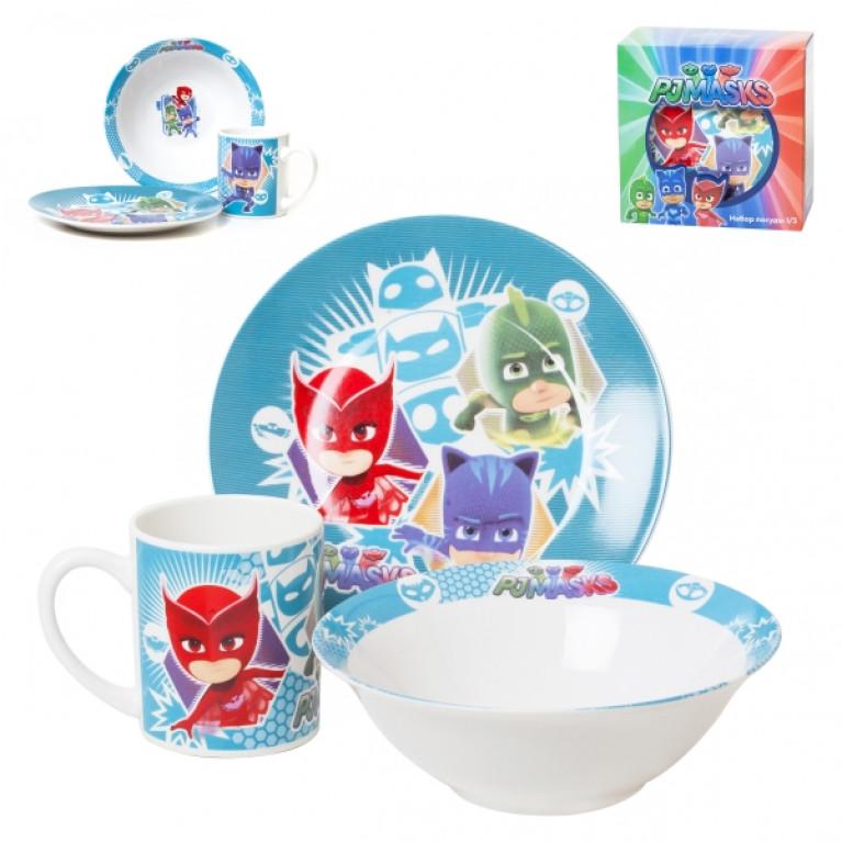 Набор посуды 1/3 п/у герои в масках (TSET3HM)