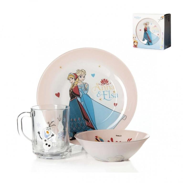 Набор детской посуды 3 пр. ХОЛОДНОЕ СЕРДЦЕ