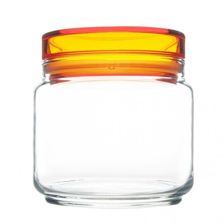 Банка для продуктов КОЛОРЛИШЭС с оранжевой крышкой 0,5 л