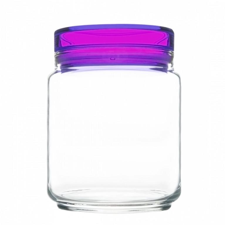 Банка для продуктов КОЛОРЛИШЭС с фиолетовой крышкой 0,75 л