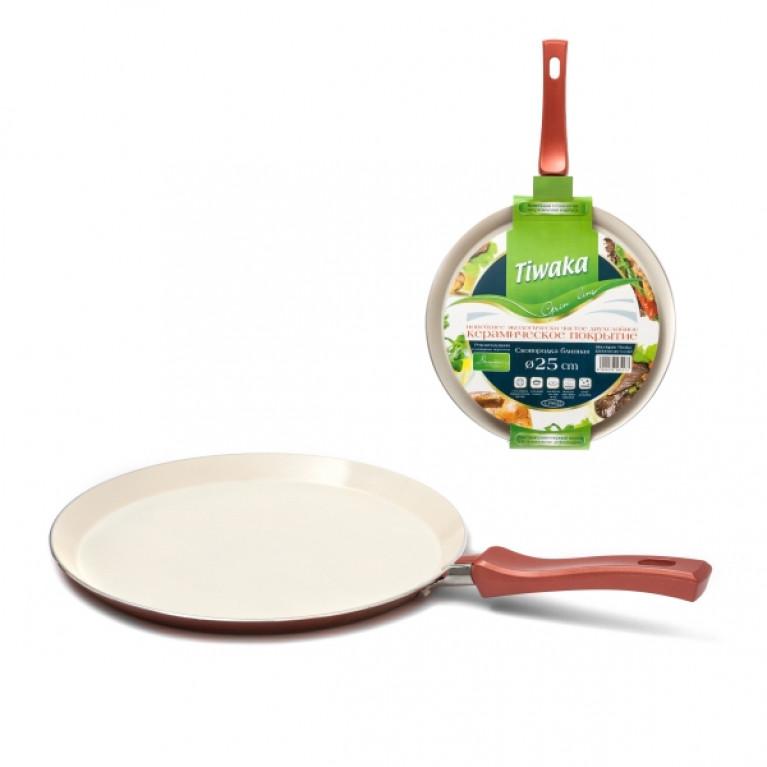 Сковорода для блинов с керамическим покрытием, 25 см