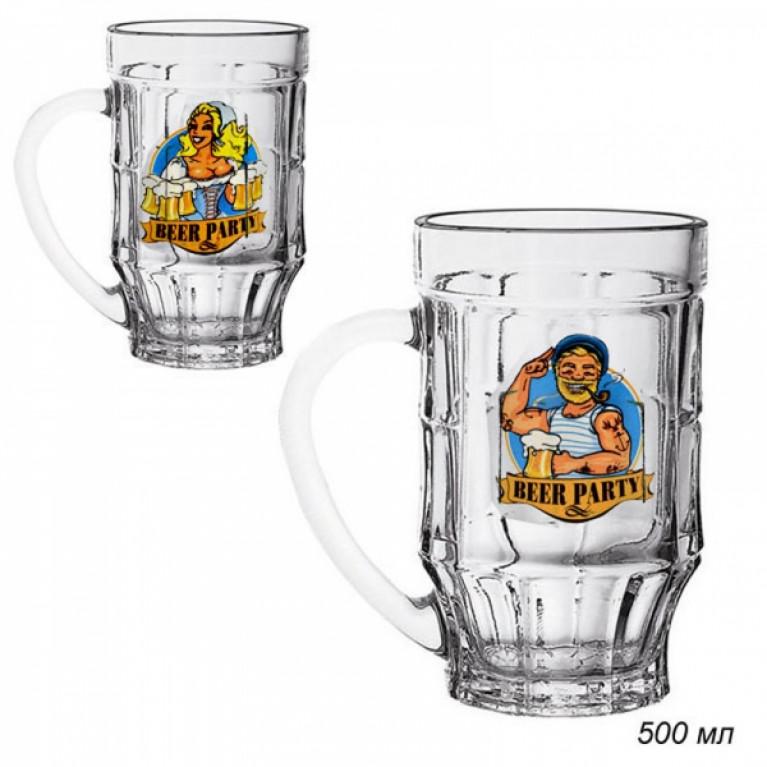 Кружка для пива ПИНТА ПРАЗДНИК ПИВА 500мл