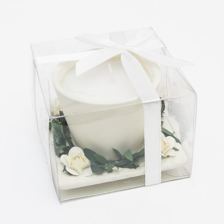 Подарочная свеча в горшочке 8х8х6см