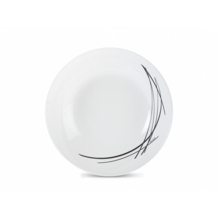 Тарелка суповая ДОМИТИЛЬ БЛЭК 20см
