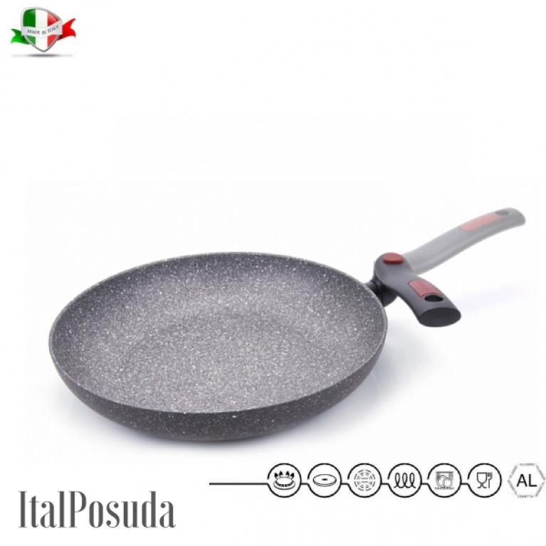 Сковорода со складной ручкой FACILE 28см индукция